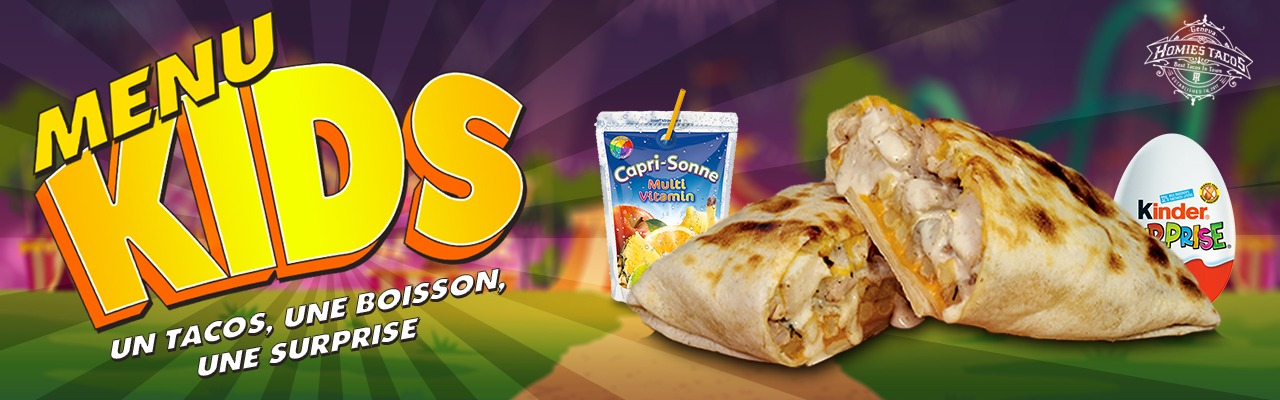 Menu kids - Tacos genève